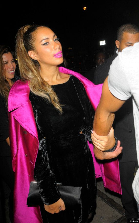 Leona Lewis Gurns For The Cameras As She Leaves London Club At 3am