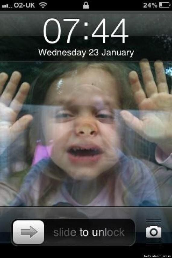 'Kid Stuck In Phone' May Be Best iPhone Wallpaper Image Ever