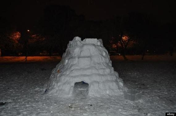 UK Snow Igloo In Yorkshire Sold On Ebay For