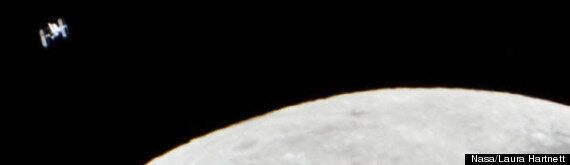 Moon Pictured Alongside International Space Station In Stunning Picture By Laura Harnett