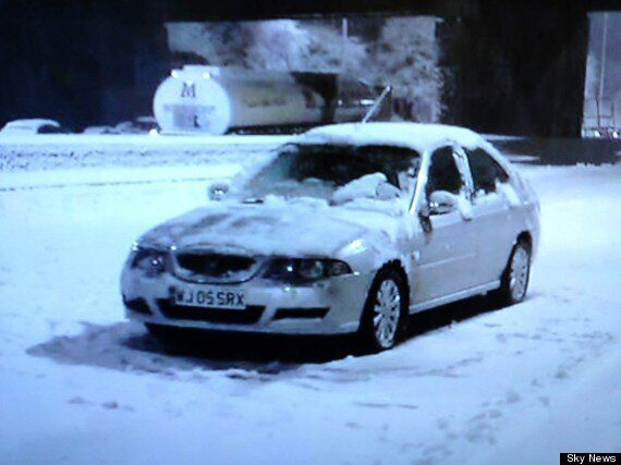 M6 Motorway Snow Storms Leave Drivers Stranded In
