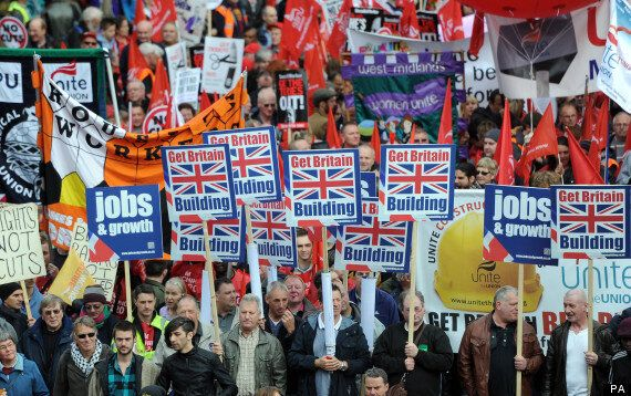 Anti-Austerity Protesters March Through Central London