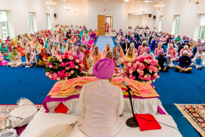 A snapshot from the author's Sikh wedding ceremony.