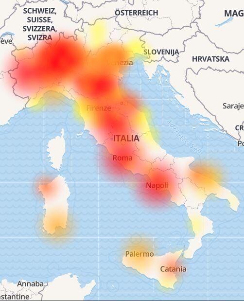 Vodafone down, problema risolto.