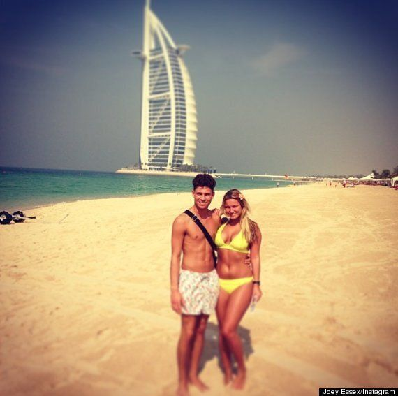 TOWIE's Sam Faiers And Joey Essex Are Loved Up As The Enjoy Dubai Sun