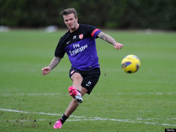 David Beckham Trains With Arsenal