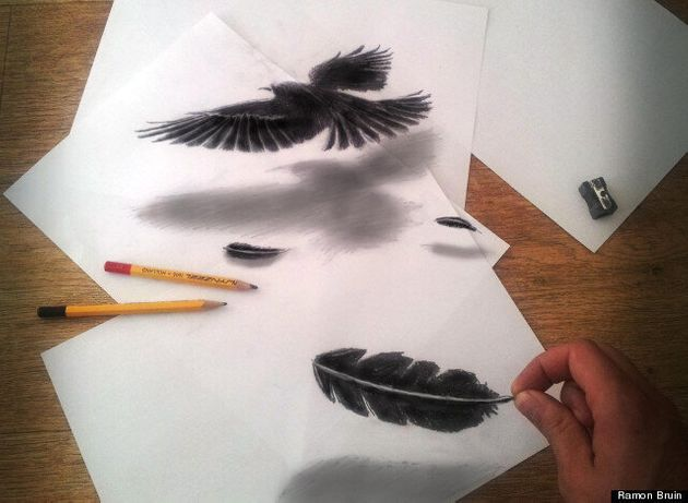 Ramon Bruin's Anamorphosic Drawings Add A Touch Of Gothic To 3D