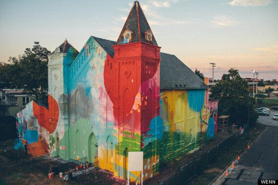 Brushed By God? Artist Hense Paints Church In Trendy Washington DC