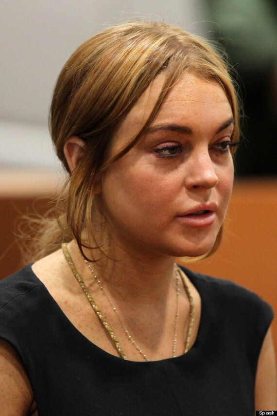Lindsay Lohan Debuts Dogdy New Tattoo As She Appears In Court
