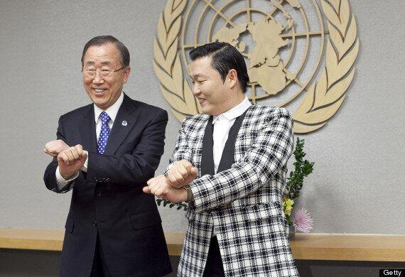 Ban Ki-Moon Dances To Gangnam Style With Psy