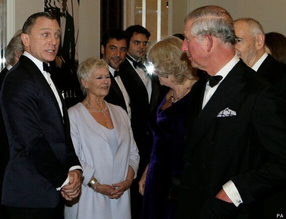 'Skyfall' Star Daniel Craig Looking Uncomfortable With Prince Charles And Camilla