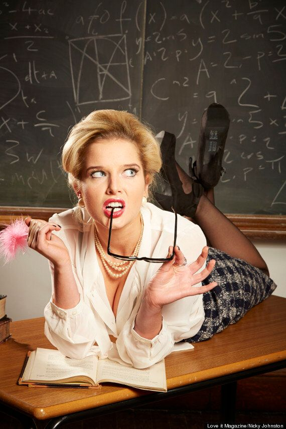 Helen Flanagan Plays Sexy School Teacher In New Photoshoot