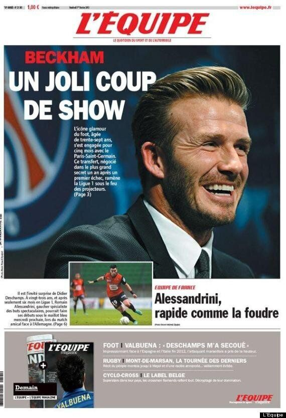 David Beckham PSG Transfer: French Papers'