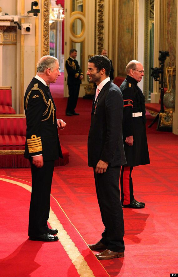 David James Receives MBE From Prince Charles