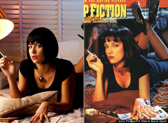 Uma Thurman's 'Pulp Fiction' Pose Recreated By Gemma