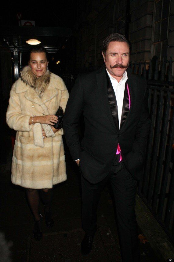 Duran Duran Star Simon Le Bon Sports A Handlebar Moustache On Night Out With Wife