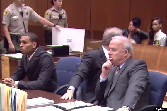 Rihanna Supports Chris Brown In Court At Probation Hearing (PICS,