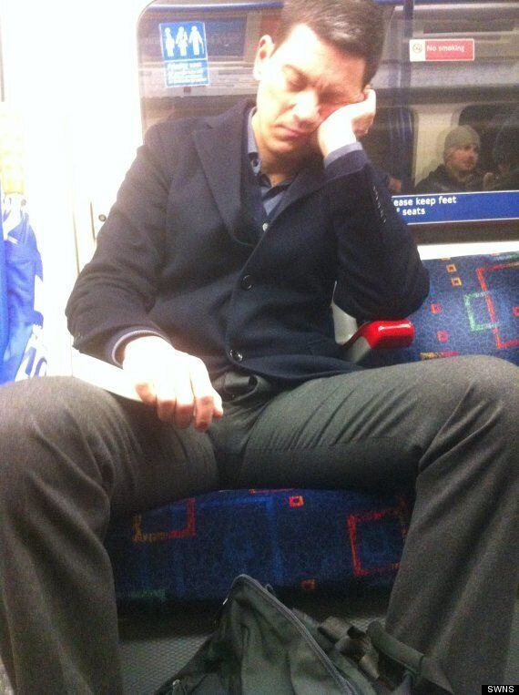 David Miliband Caught Snoozing On The Tube With His Flies