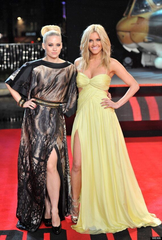 Pussycat Dolls Ashley Roberts And Kimberly Wyatt Reunite For A Leg-Off At 'Die Hard' Premiere