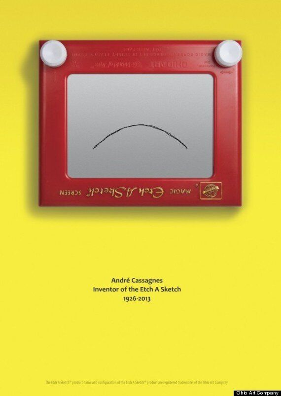 Picture Of The Day: Etch A Sketch Advert In Honour Of Its Inventor André