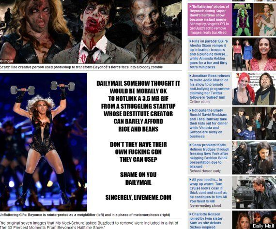 Daily Mail Beyonce Live Meme Leaves Website