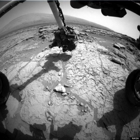 Nasa's Mars Curiosity Rover Robot Drills Hole In The Planet's