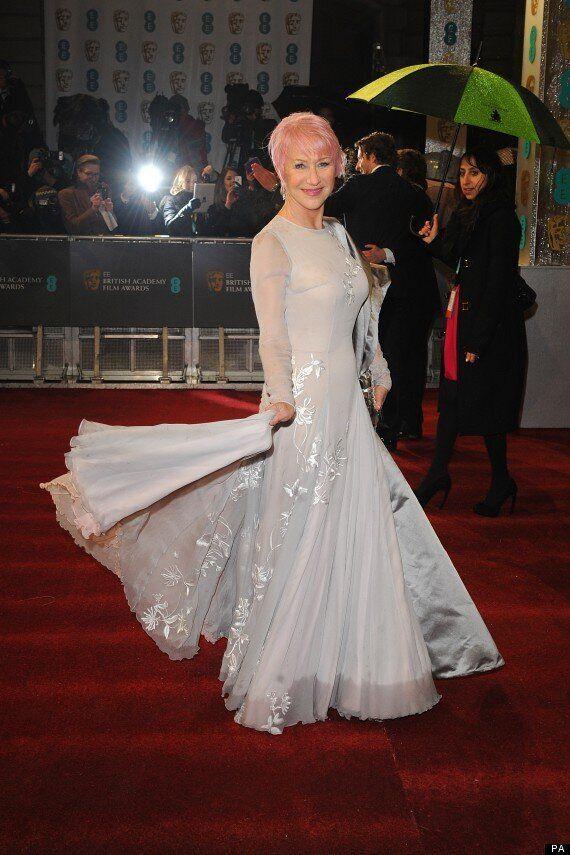BAFTAs 2013: Helen Mirren Debuts Pink Hair On Red Carpet
