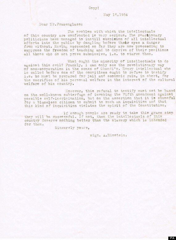 Albert Einstein Letters To Corliss Lamont To Sell At