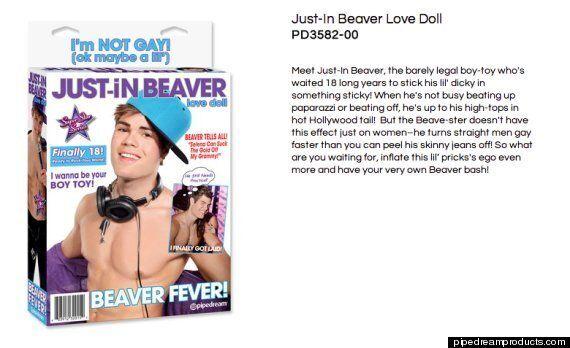 Justin Bieber Gay Sex Doll 'Just-In Beaver' Leaves Teenage Hearthrob