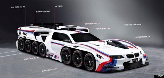 BMW Designs 42-Wheel, 19-Engine Super Car To Cheer Up 4 Year Old Boy