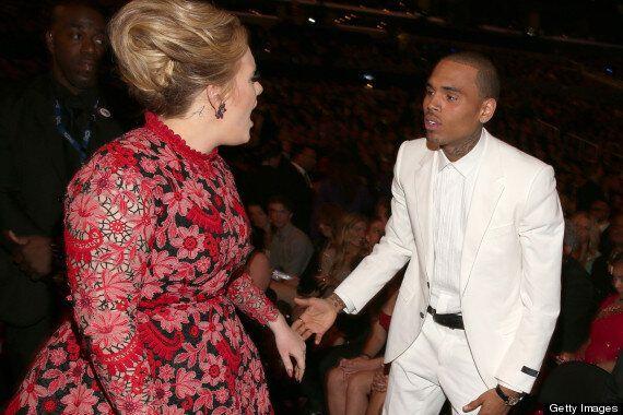 Grammys 2013: Adele Seen 'Shouting' At Chris Brown