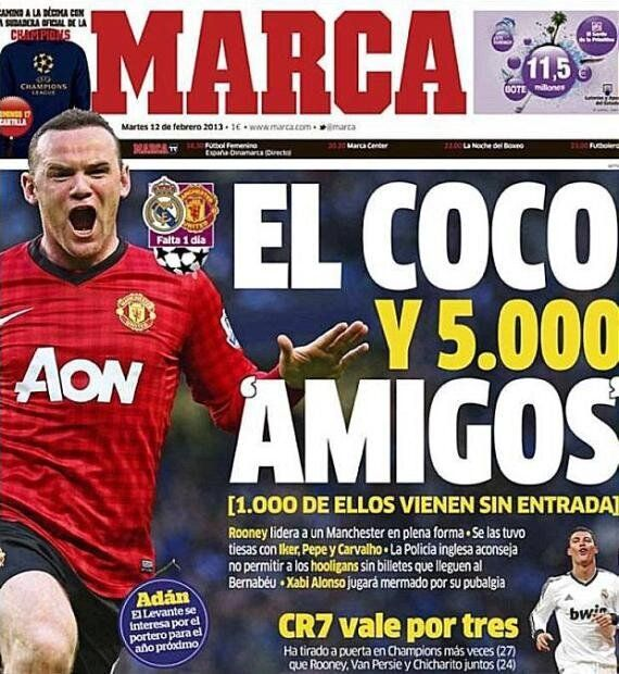 Wayne Rooney A 'Freckled Demon And A Hooligan' Says Madrid Newspaper