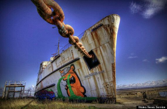 Grounded Boat The Duke of Lancaster Attracts Street Artists From Around The World To North
