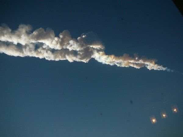 Meteor Hits Chelyabinsk, Burning Crater Video