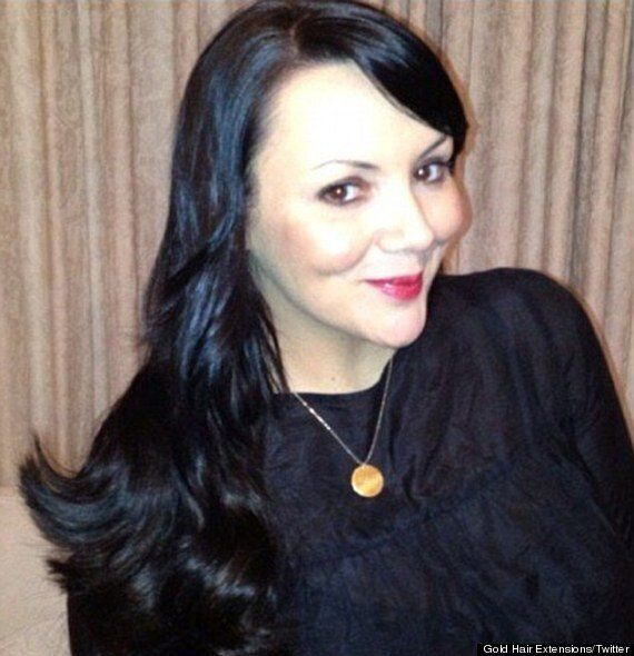 Bankrupt Martine McCutcheon Gets £550 Hair Extensions