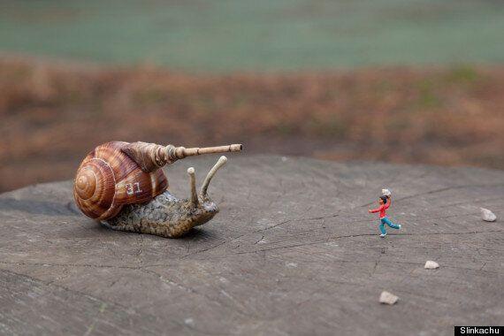 Street Artist Slinkachu Creates Surreal Scenes Of Conflict For War Child Exhibition