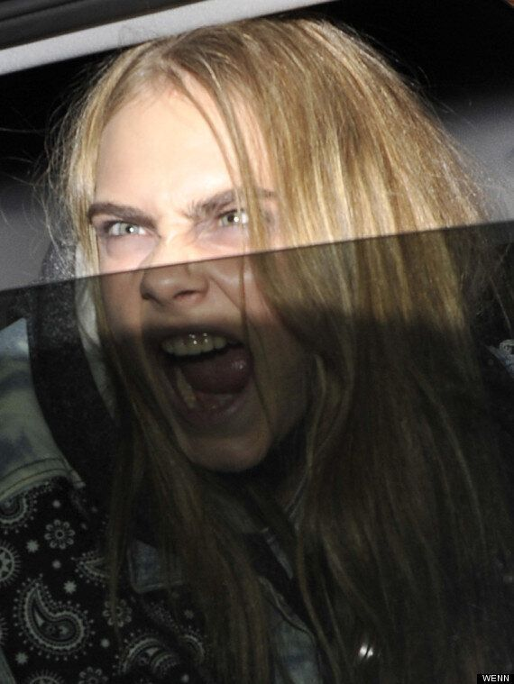 Cara Delevingne Is A Dead Ringer For 'The Exorcist' Girl As She Leaves London Fashion Week Show