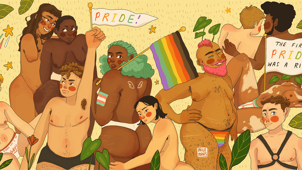 Milo Mars created this illustration for HuffPost in honor of Pride Month.