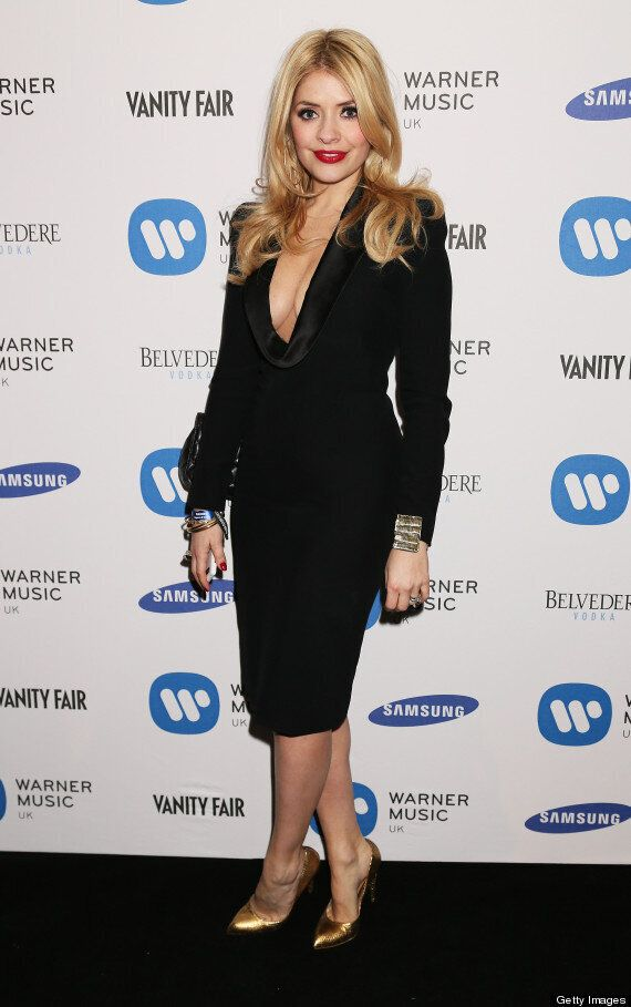 Brit Awards 2013: Holly Willoughby Shows Off Her 'Willoughboobies' At Brits After Show Parties