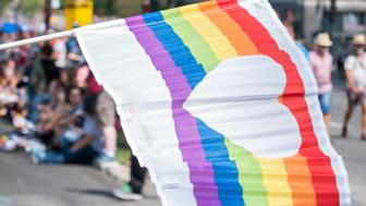 The pride parade in Montreal, Canada