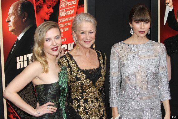 Scarlett Johnasson, Jessica Biel, Helen Mirren, Toni Collette Premiere 'Hitchcock' In New York (Video,