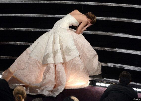OSCARS 2013: Jennifer Lawrence Trips Up Stage For Best Actress Award, Daniel Day-Lewis Gives Funny Speech