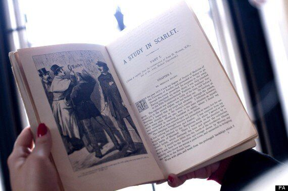Stephen Fry Celebrates 125th Anniversary Of Sherlock Holmes As First Edition Copy Of 'A Study In Scarlet'...