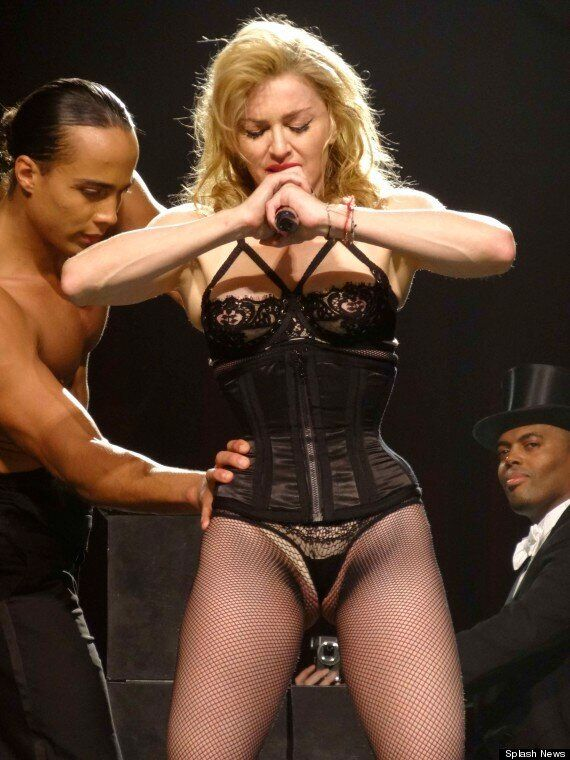 Madonna Leaves Nothing To The Imagination In Revealing Lingerie On Stage In Miami