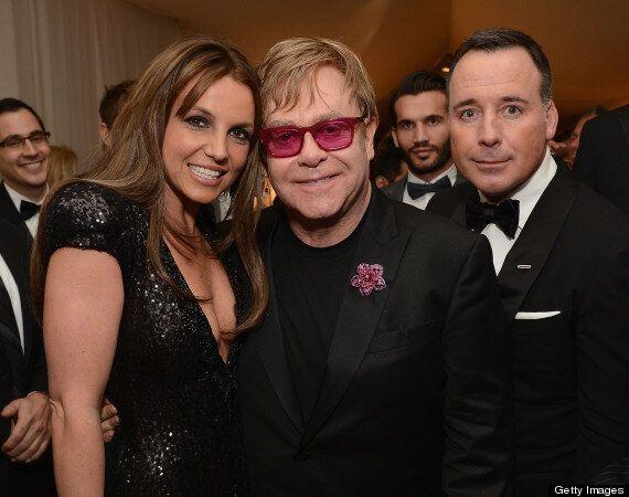 Oscars 2013: Britney Spears Debuts Sleek New Brunette Hair At Elton John's Party