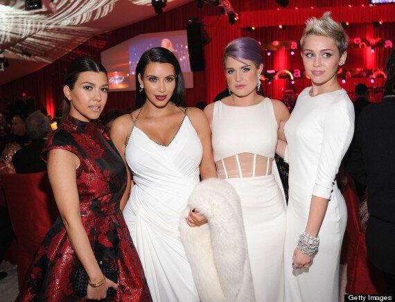 Oscars 2013: Kim Kardashian Cradles Her Growing Baby Bump At Elton John's Party