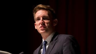 KANSAS CITY, MO - NOVEMBER 09: Jason Kander, Democratic candidate for U.S. Senate in Missouri, delivers his concession speech to supporters at Uptown Theater on November 9, 2016 in Kansas City, Missouri. Kander lost the race to incumbent Republican Sen. Roy Blunt (R-MO). (Photo by Whitney Curtis/Getty Images)