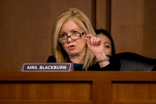 Sen. Marsha Blackburn objected to legislation that would require campaigns to report offers of foreign...