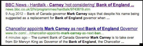 Canada's Mark Carney Appointed As Next Bank Of England