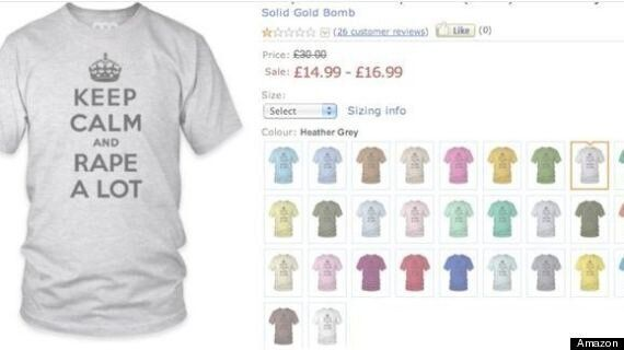 'Keep Calm And Rape A Lot' Offensive T-Shirt Company, Solid Gold Bomb